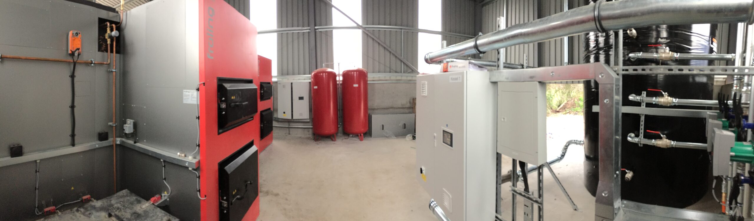 1MW biomass boiler heating system poultry farm wood chip boiler